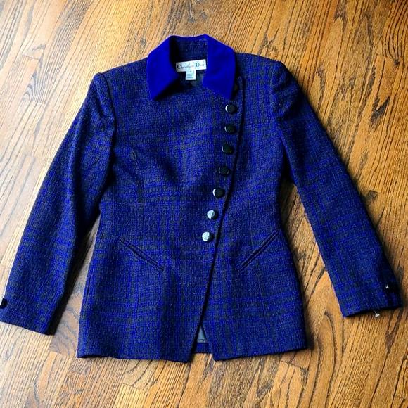 NWOT Christian Dior vintage purple wool blazer